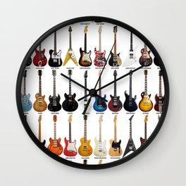 Guitar Legends Wall Clock