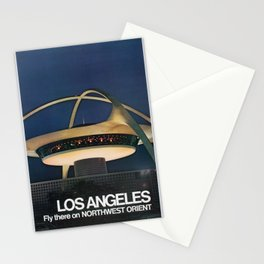 old placard Los Angeles Fly there on Northwest Orient NWA Northwest Airlines Stationery Cards
