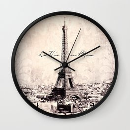 la Vie en Rose vintage Wall Clock