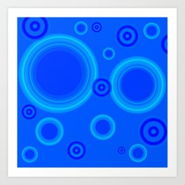 Hypnotic Blue Art Print