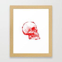 RED INK SKULL Framed Art Print