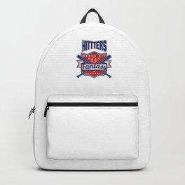 Hitters Gonna Hit Funny Baseball Awesome Baseballer Backpack