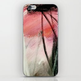 Train of thought: a vibrant abstract mixed media piece iPhone Skin