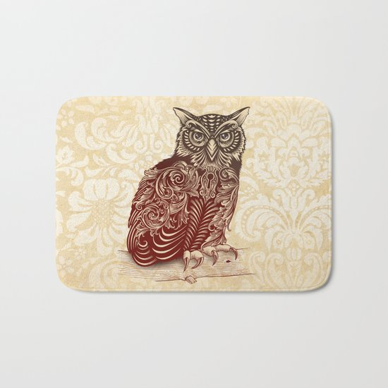 Most Ornate Owl Bath Mat