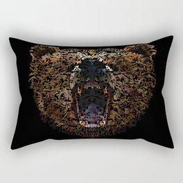 Floral Bear Rectangular Pillow