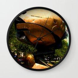 World Trade Center Globe jGibney The MUSEUM Society6 Gifts Wall Clock