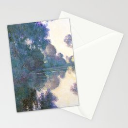 Morning on the Seine near Giverny (1897) by Claude Monet Stationery Cards