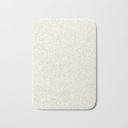 Tiny Spots - White and Pearl Brown Bath Mat