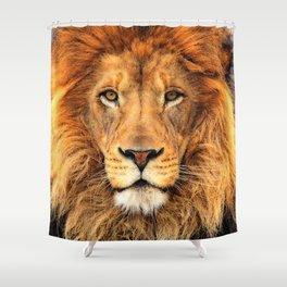 Wild Cat Glare Shower Curtain