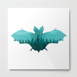 bat Silhouette Metal Print