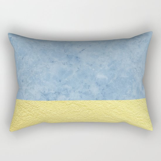 Royal blue and gold marble Rectangular Pillow