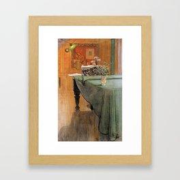 Carl Larsson  -  Young Girl At A Grand Piano Framed Art Print