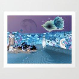 Planet Trash Art Print