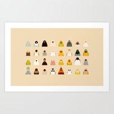 All birds - tori no iro Art Print