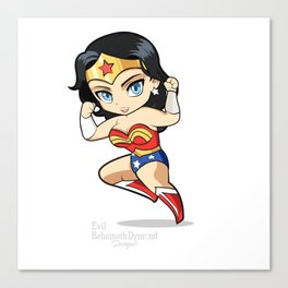 Chibi WonderGal Canvas Print
