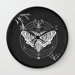 Witch Craft White Wall Clock