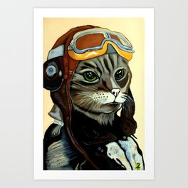 """Mike - Echo - Oscar - Whiskey"" MEOW Art Print"