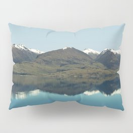 Blue reflections of mountains Pillow Sham