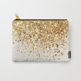 Sparkling Gold Glitter Glam #2 #shiny #decor #art #society6 Carry-All Pouch