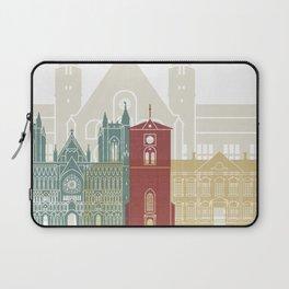 Trondheim skyline poster Laptop Sleeve