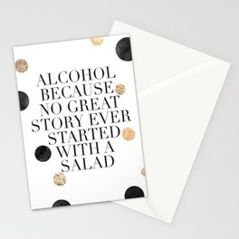ALCOHOL BAR SIGN, Alcohol Quote,Drink Sign,Celebrate Life,Weeding,Anniversary,Home Bar Decor,Quote P Stationery Cards