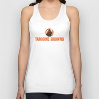 nfl Tank Tops featuring Tattooine Browns - NFL by Steven Klock