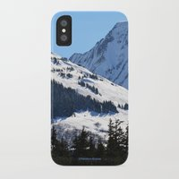 skiing iPhone & iPod Cases featuring Back-Country Skiing  - I by Alaskan Momma Bear