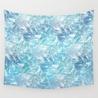 crystal Wall Tapestries featuring Crystal by Roland Larsson