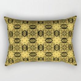 Primrose Yellow Geometric Floral Rectangular Pillow