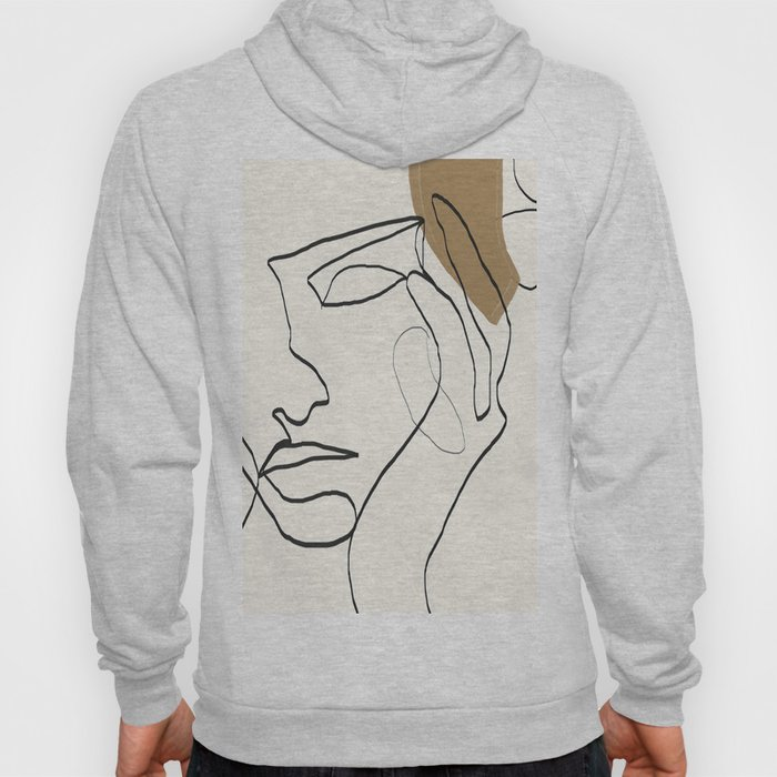 Abstract Face Hoody