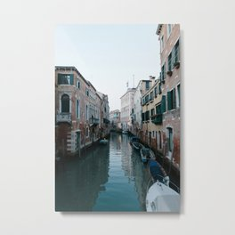 Empty boats in Venice Metal Print