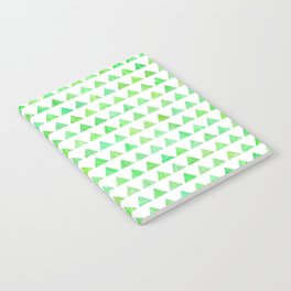 evergreen geometric pattern Notebook