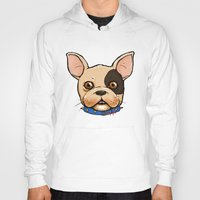 frenchie Hoodies featuring Frenchie by The Audyssey