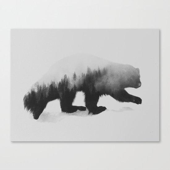 Jerv (black & white version) Canvas Print