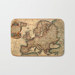 Map Of Europe 1700 Bath Mat