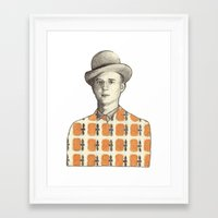 robert farkas Framed Art Prints featuring Robert by Rins