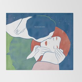 Romeo and Juliet, William Shakespeare Throw Blanket