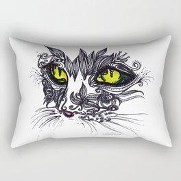 Intense Cat Rectangular Pillow