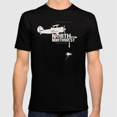 North by Northwest - Alfred Hitchcock Movie Poster Black Mens Fitted Tee MEDIUM