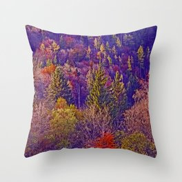 Fall and wood colors Throw Pillow