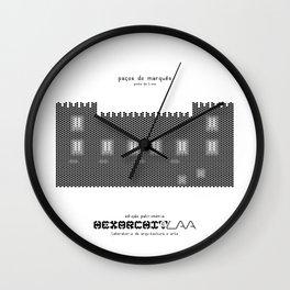HexArchi - Portugal, Ponte de Lima, Paços do Marquês Wall Clock