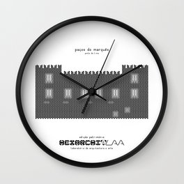 HexArchi - Portugal, Ponte de Lima, Paços do Marquês Wall Clock