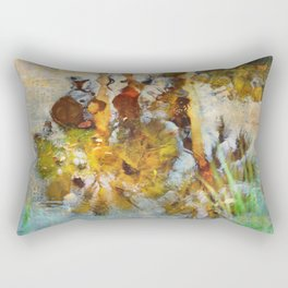 Palm Trees in Pond Rectangular Pillow