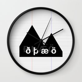 Reykjavik Boulevard #02 Wall Clock