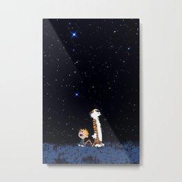 Calvin Hobbes Metal Print