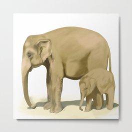 Elephant baby. Metal Print