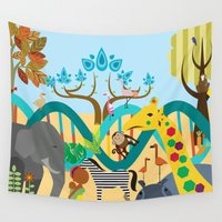 evolution Wall Tapestries featuring Evolution by Design4u Studio