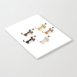 Basset Hound Colors Illustration Notebook