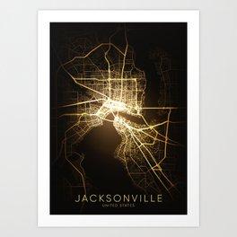 jacksonville Florida usa united states america Art Print