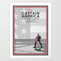 steve rogers Art Prints featuring Steve Rogers  by Samantha Panther
